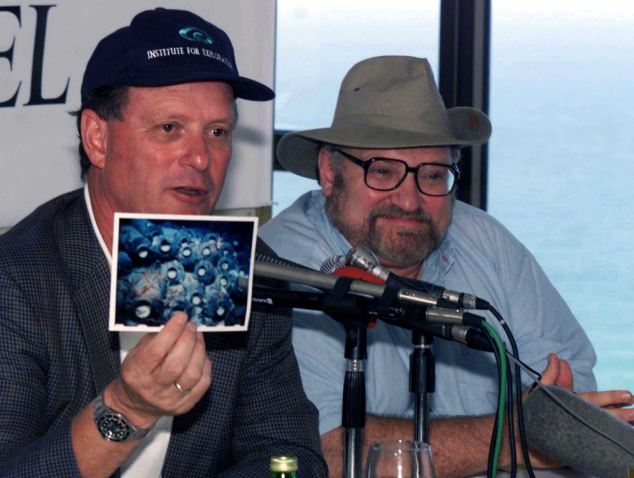 BALLARD AND STAGER NEWS CONFERENCE ON PHOENICIAN SHIPS DISCOVERED